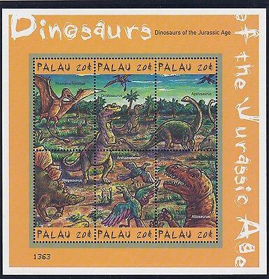 (74701) Palau MNH Dinosaurs Minisheet