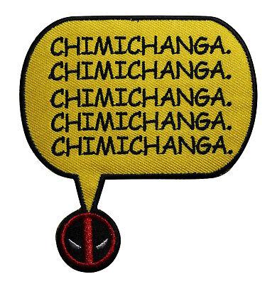 Deadpool Chimichanga Embroidered Iron On Patch - Marvel Comics Superhero 136-R