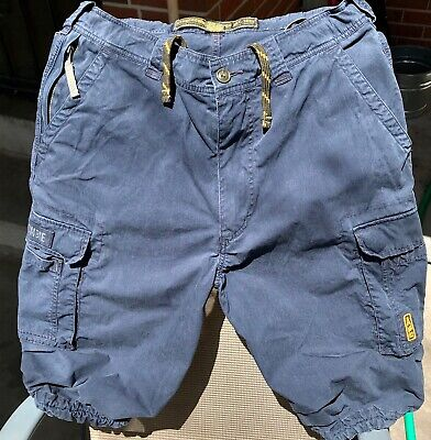 Abercrombie and Fitch Paratrooper Cargo Shorts Navy Blue Sz. 32