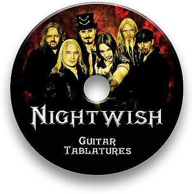 NIGHTWISH ROCK METAL GUITAR & BASS TAB TABLATURE SONG BOOK SOFTWARE (Metal Guitar Tab Book)
