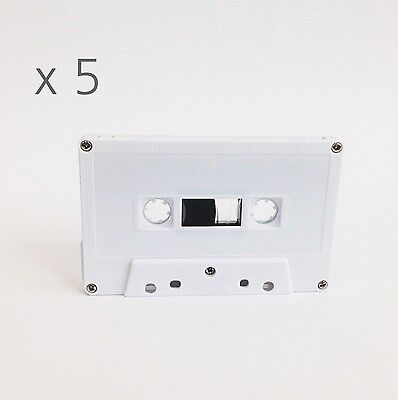 46 minute x 5 ea Bulk Pack White Shell Blank Cassette Tape fine quality Korean