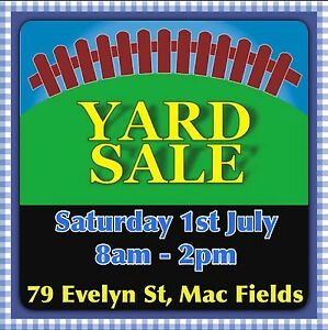 YARD SALE  -  variety of items Macquarie Fields Campbelltown Area Preview