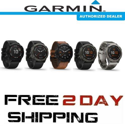 Garmin Fenix 6X Multisport GPS Watch / PRO, Sapphire or PRO Solar Edition