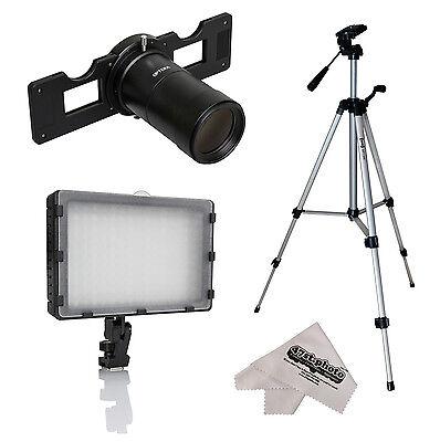 Opteka HD Slide Copier Studio Lighting Kit for Canon EOS Digital SLR Camera