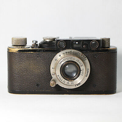 [Very rare] Genuine Leica ii Black Paint Yr.1925 S/N 941 + Nickel Elmar 5cm F3.5