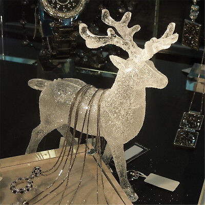 Christmas Decor Acrylic Deer Elk Xmas Party Decoration Ornament Holiday Gift Wow