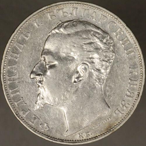 Bulgaria 1894 5 Leva XF+