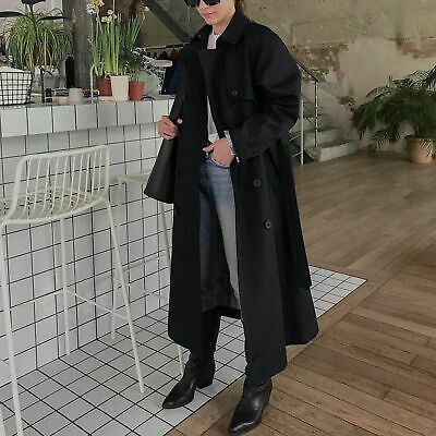 UNIQLO JW Anderson Reversible Trench Coat in Navy Blue Size Small S