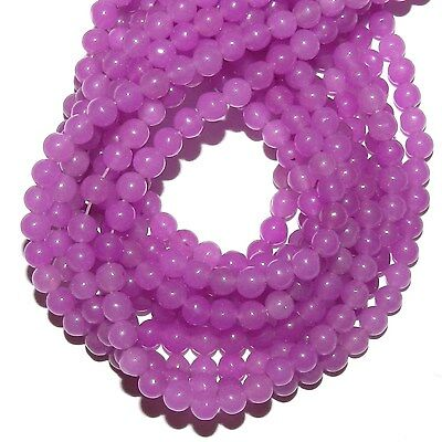 GR1147 Purple Fuchsia Candy Jade 4mm Round Quartz Gemstone Beads -