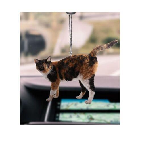 Calico Cat Car Hanging Flat 2D Ornament, Cat Lover