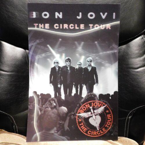 """Bon Jovi RARE Circle Tour 3D Lenticular Concert Tour Promo Poster 18"""" x 12"""""""