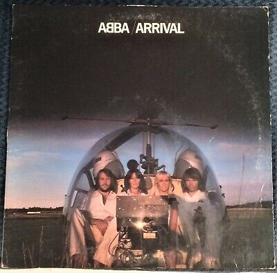 ABBA - Arrival LP w/ Dancing Queen MONEY MONEY MONEY Knowing Me Knowing You - VG