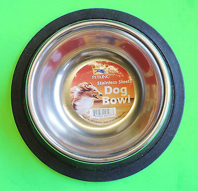 (6oz Toy Dog Cat Stainless Steel Food/Water Bowl Dish Non-Slip/Skid Rubber Base)