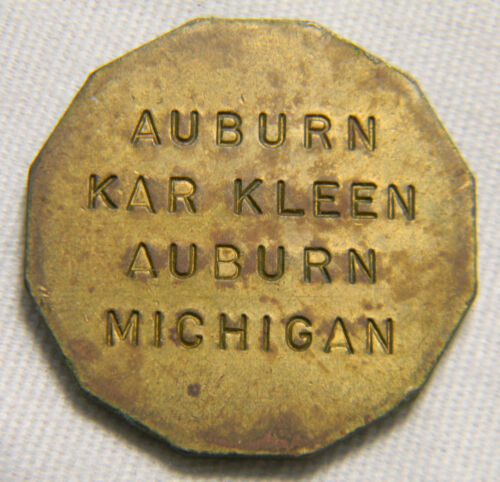 Auburn Michigan Kar Kleen Car wash  token (0621)