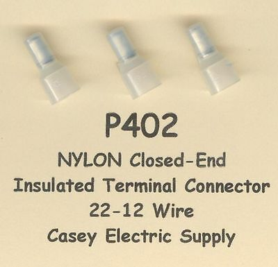 50 Nylon Insulated Closed End Terminal Connectors 22-12 Wire Awg Molex