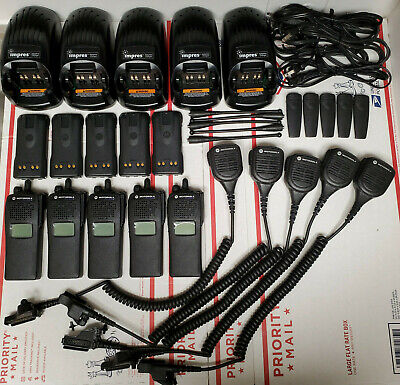 Lot Of 5 Motorola Xts2500 Model 1.5 700800mhz Adp P25 9600 Digital Astro