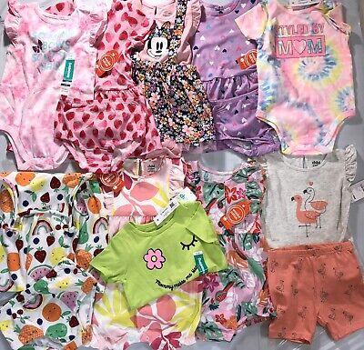 15 PC Lot of NWT Toddler Girl Clothes Size 24 Mths Carter's, Disney, Garanimals