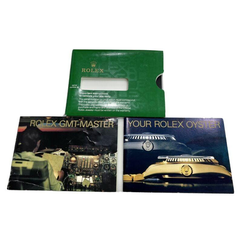 Authentic Vintage 1989 Rolex GMT Master II Booklet Set 16710 167188 167133 16700