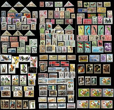 Africa, six stock pages of mixed era's and countries mint & used (X102)