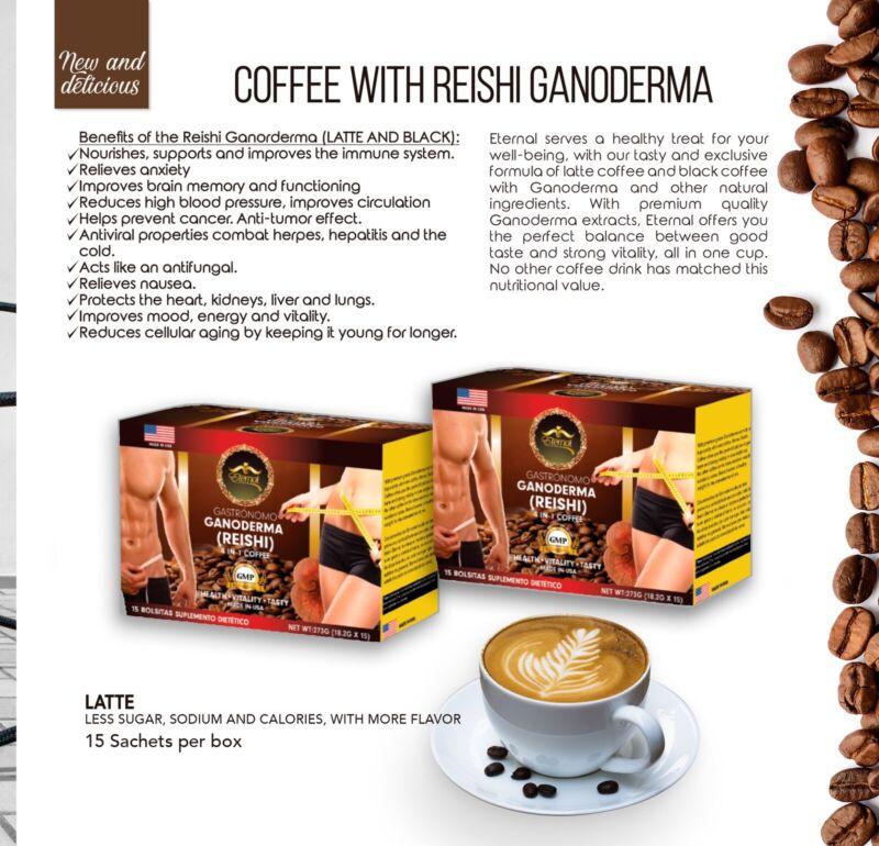 4 IN 1 GANODERMA COFFEE REISHI 15 SACHETS - 2 BOXES