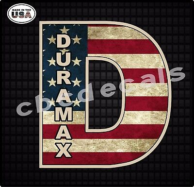 Duramax American Flag Stickers Truck Decal DirtyMax Window Diesel Chevy GMC 001 ()