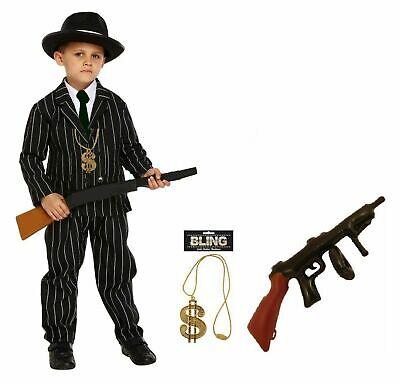 Kinder Gangster Kostüm Kinderkostüm Gangster Gangsterkostüm Rapper Mafia Kostüm