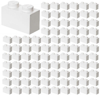 ☀️100x NEW LEGO 1x2 WHITE Bricks (ID 3004) BULK Parts City Building Ice Snow