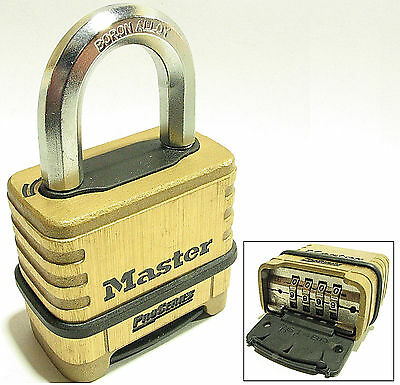 Combination Master Lock Padlock 1175d Resettable Brass Over 25 Free Shipping