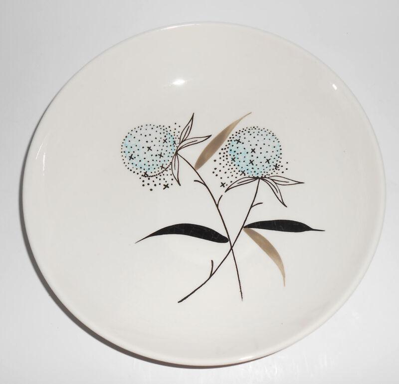Stetson China Pottery Blue Floral Soup Bowl