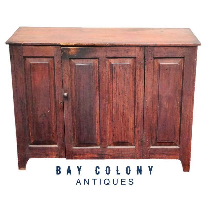 18TH C QUEEN ANNE COUNTRY PRIMITIVE ANTIQUE SIDEBOARD / SERVER ~ORIGINAL VARNISH
