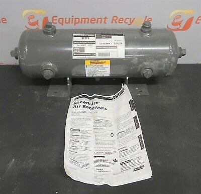 Dayton Speedaire 1tzy6 2 Gallon Gal Stationary Steel Air Tank 175 Psi Horizontal