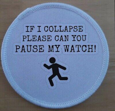 Running Runner Fitness Strava Garmin Suunto Patch Badge badges patches