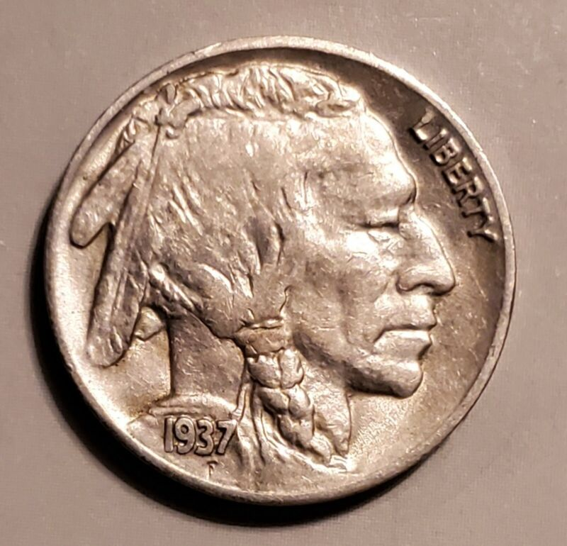 High Grade 1937-S Buffalo Nickel - About Uncirculated at a Bargain Price!