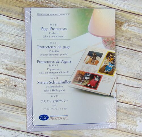 Creative Memories 8 ½ x 11 Sealed PAGE PROTECTORS Old Style 16 Sheets 2004