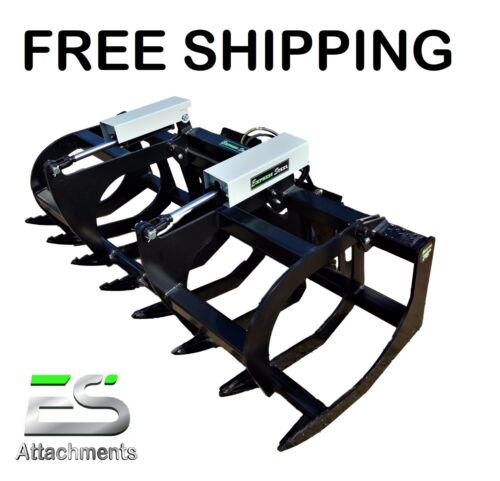 """ES 78"""" HD GRAPPLE- NEW SKID STEER QUICK ATTACH BRUSH GRAPPLE, FREE SHIPPING"""