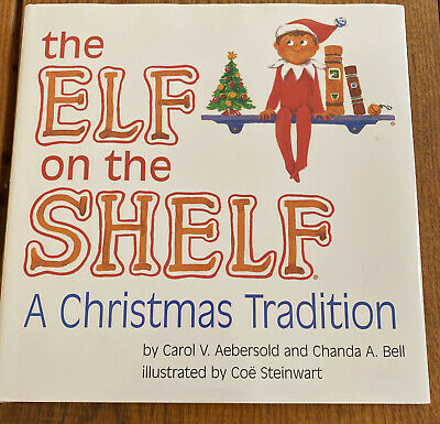 Elf on the Shelf Boy Hardcover Book Only No Doll Christmas Tradition