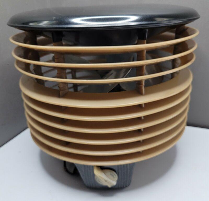 Vintage Retro Air Flight Hassock 360 Floor Fan 3 Speed