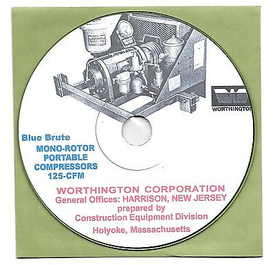 Worthington Blue Brute Monorotor Compressors Owner's manual Book on CD-ROM PDF