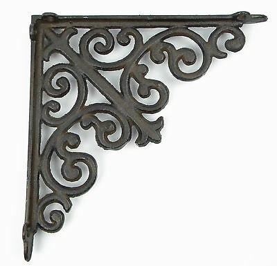 Wall Mount Iron Antique Rustic Shelf Cistern Brackets Shelf Angle French Lily