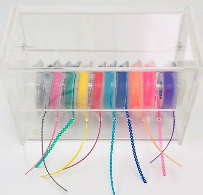 ACRYLIC DISPENSER Organizer with COVER(elastic chain are not included)USA seller