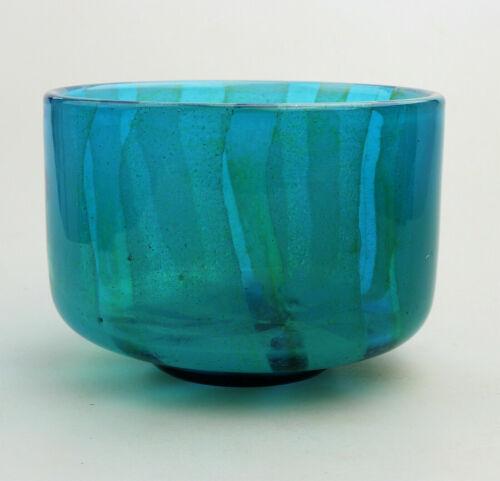 A retro Maltese Mdina art glass Bowl Michael Harris Design circa 1970-80s