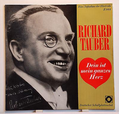 """LP 12""""  Richard Tauber Dein ist mein ganzes Herz Electrola REC. EX"""