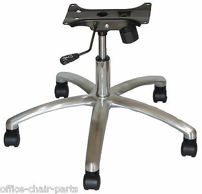 Chair Seat Plate 28 Diameter Brushed Aluminum Base 4 Stroke Cylinder 5 Casters