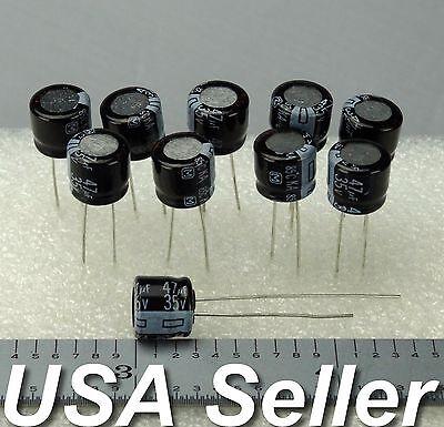 47uf 35v Panasonic Low-esr Ka Series Electrolytic Capacitors 5-25pcs - Usa Ship
