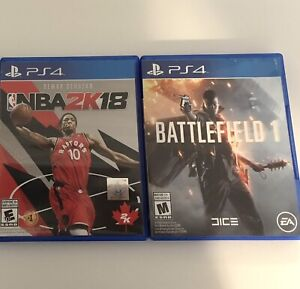 PS4 games - 10 each
