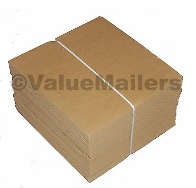 50 - 7.5 X 7.5 Corrugated Filler Pads For 45 Rpm Record Mailers