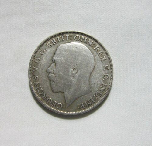 GREAT BRITAIN. SILVER 1 FLORIN, 1922. KING GEORGE V.