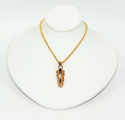 Feather Pendant 14kt Gold Jewelry - Feather 1ct Ethiopian Welo Opal & Purple Malachite 14kt Yellow Gold Necklace