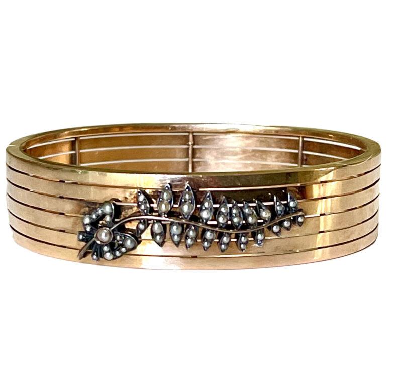 14k yellow gold antique jewelry bracelet