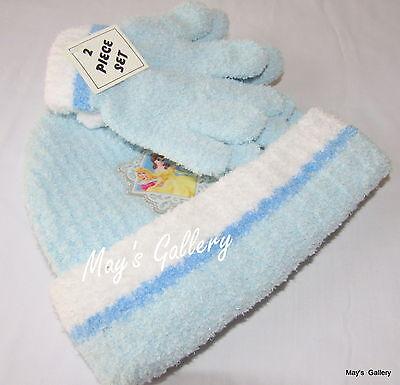 Disney Princess Princesses Plush Cap Hat Beanie Beanies Gloves  2 pc Set   NWT